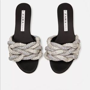 Zara Gem Encrusted Jewel Slides Bloggers Favorite